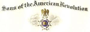 Saratoga Battle Chapter, Sons Of the American Revolution SAR