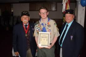 Jonah Amell, Rotterdam NY - Eagle Scout Certificate SUVCW