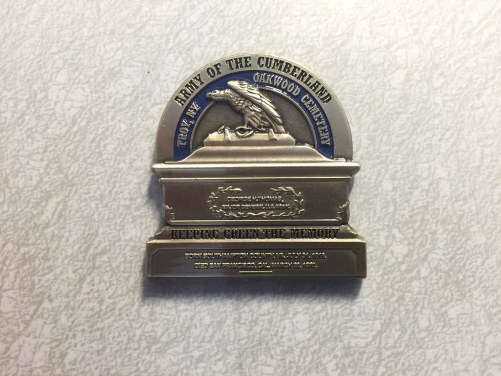 BACK - General George H. Thomas Challenge Coins
