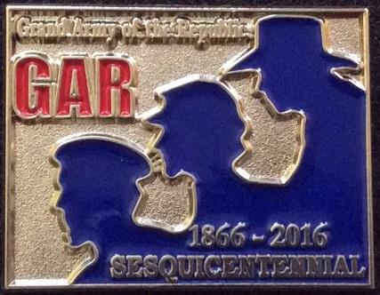 G.A.R. Sesquicentennial Lapel Pin
