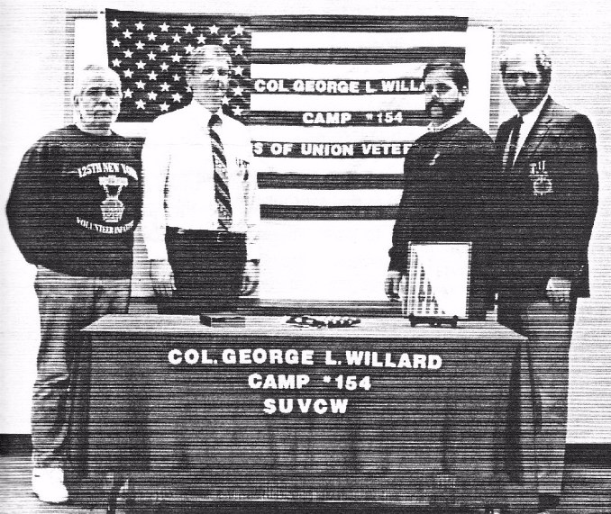 Brothers (L to R): Richard Straight, SVC, William Halpin, CC, Lew Warner, Douglas E. Smith, PCC, Sec/Treas.