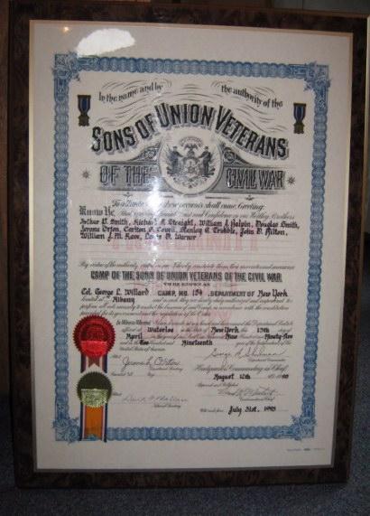 Col. Willard Camp #154 Charter