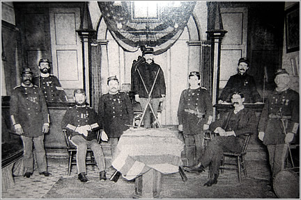 Unknown Dated Photo of Col. Townsend Post No. 1 Officers